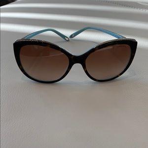Tiffany barely worn crystal encrusted sunglasses